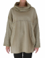 Mobile Preview: IM400BG Damen Tunika Oil Washed Look Pullover Lurex Sweater one size Vintage Gr. 40 42 44 46 beige