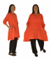 Preview: LJ600OR Damen Leinen Tunika Hängerchen Bluse one size orange Gr. 38 40 42 44
