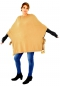 IM600BG Poncho Strick Cape one size geschnürt Pompoms Gr. 38-44 curry