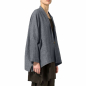Mobile Preview: LJ400GR leichte Damen Jacke Langarm One size Lagenlook grau