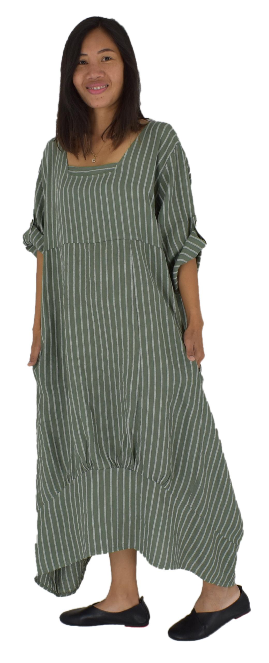 Kleid Jersey Buntes Lagenlook Ballon Kleid XADOO Plus Size 40 42 44 46 48 50
