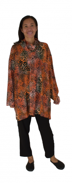 IN400SG12 Tunika Romanit Jersey Modal Gr. 40 - 48 orange/schwarz